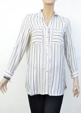 Удлиненная женская рубашка в полоску george