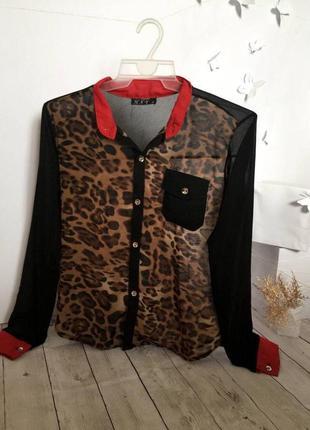 Леопардовая блуза, блузка с леопардовым принтом