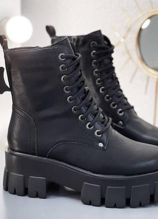 Деми ботинки материал: натуральная кожа