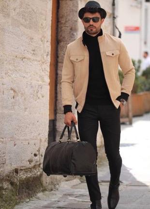 Пальто-куртка замшевая