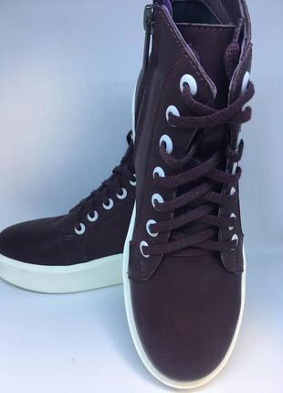 Ботинки кожаные женские solodilova calmness бордовые