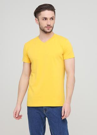 "Футболка ""Only Man"" (95-TSH-3-02-V-yellow/small-yellow-back)"