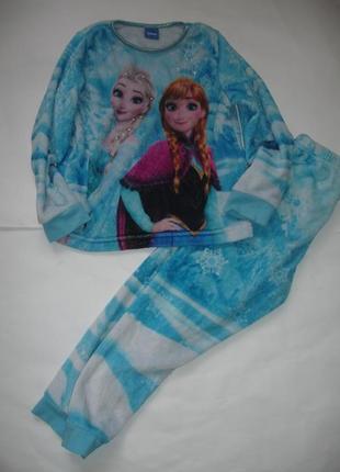 Фирменная теплейшая пижама с эльзой девочке 7-8 лет в новом со...