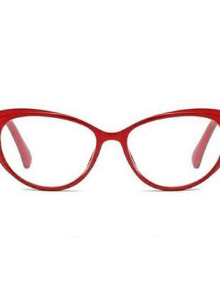 Женские красные очки кошачий глаз ретро для зрения с диоптриями б