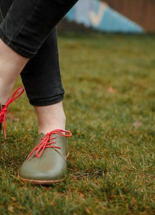 Туфли кожаные женские solodilova awesome зеленый
