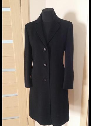 Пальто, черное, классический стиль, размер 46/48