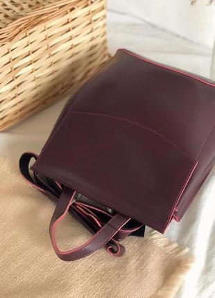 Рюкзачки из прессованной натуральной кожи  (есть цвета)