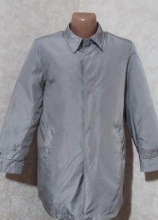 Мужской плащ пальто с подстежкой, ettore bruni, l