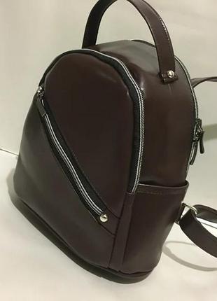 Коричневый женский рюкзак,мини рюкзак