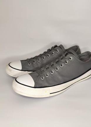 Converse оригинал! серые кожаные кеды, стелька 30,5 см