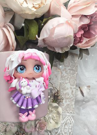 Чашки с куклой Лол из полимерной глины