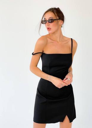 Платье сарафан черное