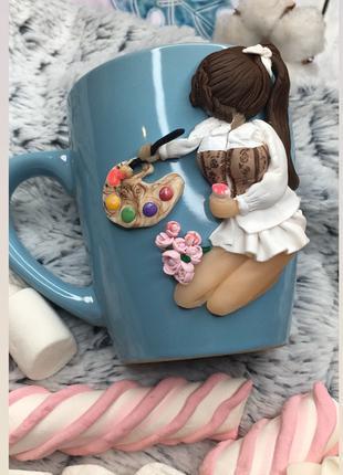 Подарок для художницы, чашка для девушки