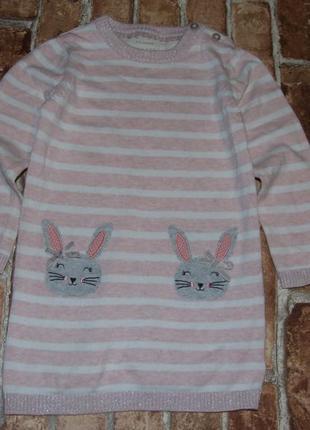Теплое платье девочке 2-3 года
