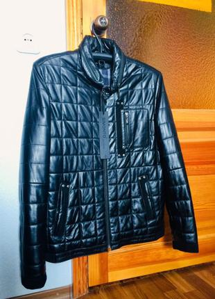 Новая кожаная куртка/дублёнка/бомбер Simonto