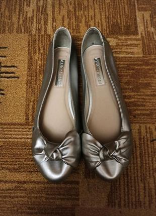 Серебрянные балетки
