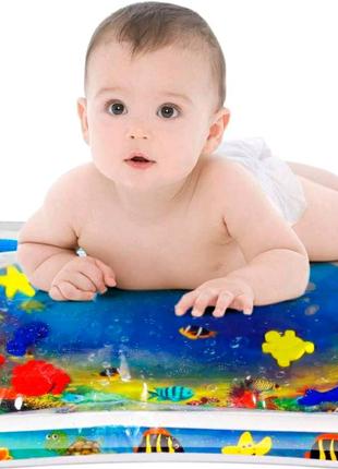 Детский развивающий коврик с водой.
