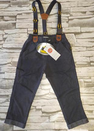 Сool club брюки с подтяжками для мальчика
