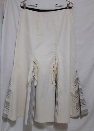 Новая юбка-клинка светло-желтая декор *James Lakeland* 46-50р