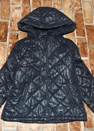 Куртка девочке стеганая benetton 7-8 лет синяя