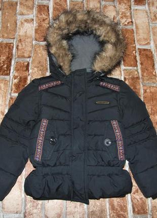 Теплая куртка зима девочке 4 года vingino