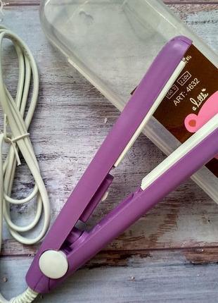 Мини утюжок щипцы гофре. фиолетовый