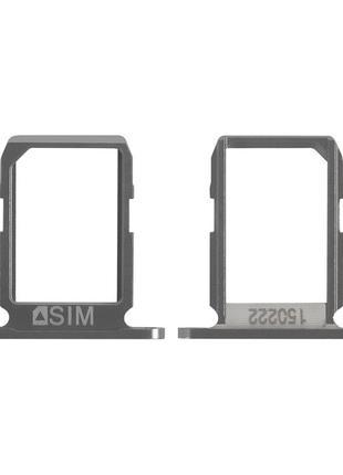Держатель SIM-карты (Лоток) для Samsung G920F Galaxy S6 на 2 SIM-