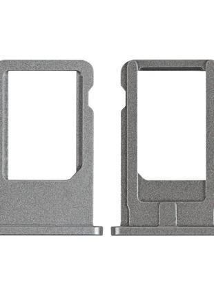 Держатель SIM-карты (Лоток) для iPhone 6 темно-серый