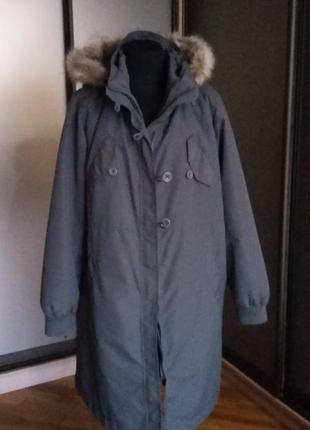 Пальто , парка с подстежкой и капюшоном