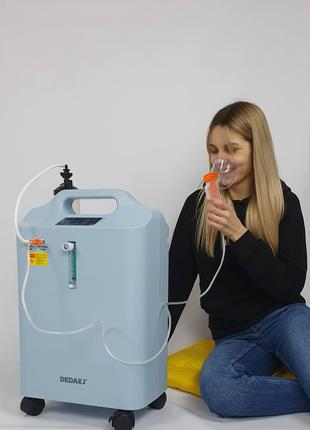 Кислородный концентратор Dedakj 5 литров + подарок пульсоксиметр