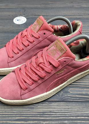 Замшевые осенние кроссовки puma basket оригинал!