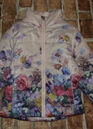 Куртка теплая деми 1-2 года девочке