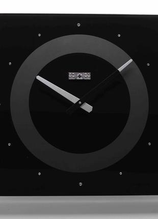 Часы настенные crystal, черные - скло+глас