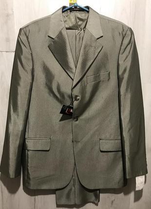 Мужской классический костюм teks в тонкую полоску 095 (48)