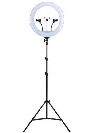 Кольцевая светодиодная LED лампа 45 см на штативе 2м для блогера