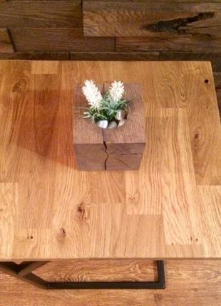 Кофейный журнальный приставной стол столик loft лофт