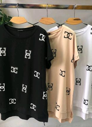 Женская футболка размер 54-58 цвета