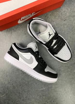 Женские кроссовки Nike Air Jordan Low 1 Black/Gray топ качество