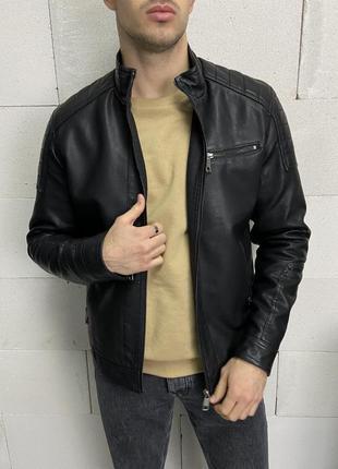 Мужская кожаная куртка мужская одежда
