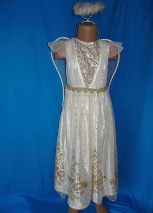 Карнавальное платье ангела на 5-6 лет