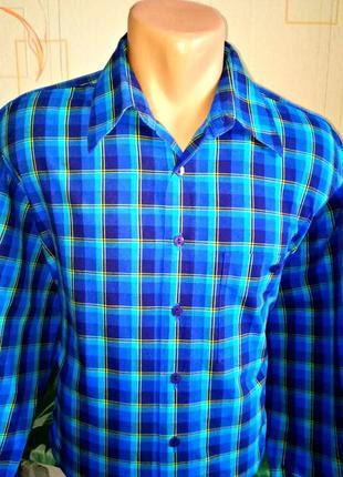 Рубашка в клетку от dornbusch casual /германия/