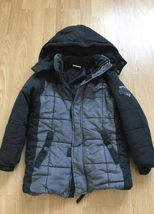 Тепла зимова куртка на хлопчика