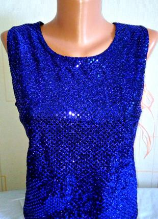 Клубный топ , блуза с пайетками mackays
