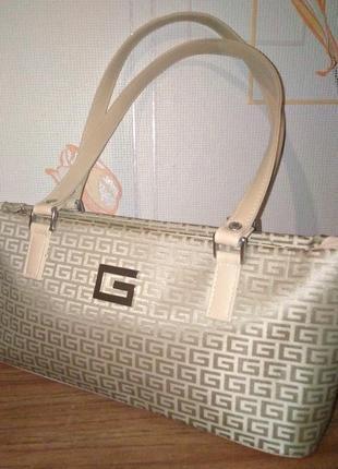 Кожаная сумка дом моды givenchy кожа+канвас