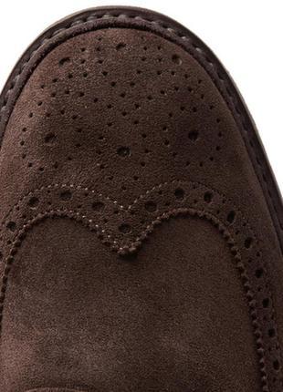 Замшевые мужские туфли броги j.macgill & co.