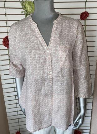 Льняная рубашка в принт maddison