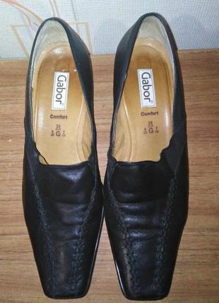 Кожаные фирменные туфли gabor comfort
