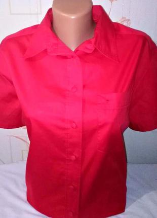Женская рубашка блузка eterna excellent с коротким рукавом