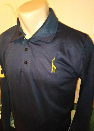 Zacard вышитый жираф регби поло рубашка xl с длинным рукавом