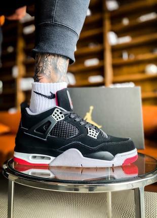 Мужские кроссовки Nike Air Jordan 4 Retro Og 'Bred'(40-45р)